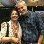 Atul Kapoor with wife