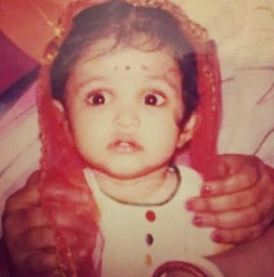 Childhood image of Priya Banerjee
