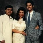 Chitra Singh With Her Husband And Son  Vivek Singh