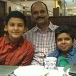 Divyansh Dwivedi with father and brother