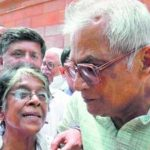 George Fernandes With His Wife Leila Kabir