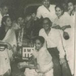 Guru Dutt Wife and Friends With His BMW Car