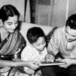 Guru Dutt With His Wife and Sons
