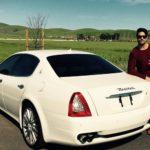 Guru Mann with his Maserati