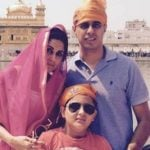 Harshad Malhotra with wife and son