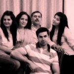 Harshvardhan Ahlawat with family