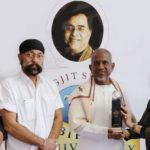 Ilaiyaraaja Receiving Jagjit Singh Memorial Award From Jagjit Singh's Wife Chitra Singh