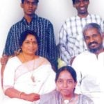 Ilaiyaraaja With His Wife Jeeva (L), Sons Yuvan Shankar, and Karthik Raja (Standing), Daughter Bhavatharini (Sitting Front)