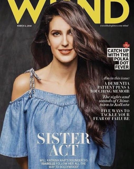 Isabelle Kaif on the cover of WKND magazine