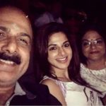 Iswarya Menon with her parents