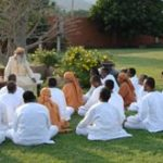 Jaggi Vasudev Teaching Yoga to His Students