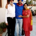 Jashan Singh Kohli with his parents