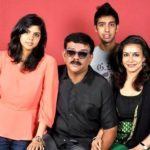 Kalyani Priyadarshan with her family