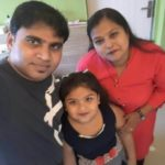 Kavya Ramani with parents