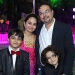 Keyan Gadia with family