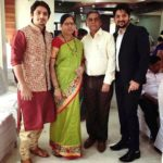 Kunal Devalkar with his parents and brother Saivijay Devalkar