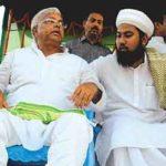 Lalu Prasad Yadav with duplicate Osama bin Laden