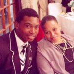 Lungi Ngidi with his mother