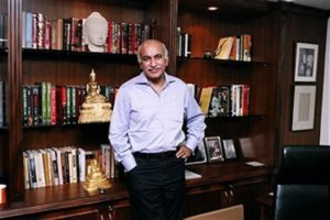 M J Akbar At The Asian Age Office In New Delhi