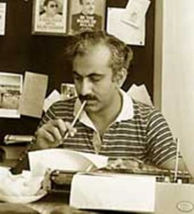 M J Akbar At The Telegraph Office