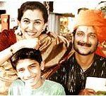 Milind Gunaji Wife and Son