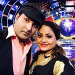 Mubeen Saudagar with wife