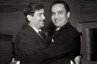 Raj Kapoor With Singer Mukesh