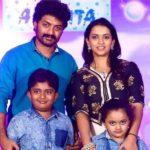 Nandamuri Kalyan Ram with his wife and children