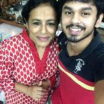 Nandhan Ram with his mother