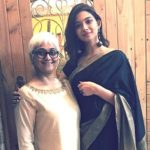 Natasha Bharadwaj with mother