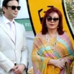 Ness Wadia with his mother Maureen Wadia