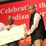 Palagummi Sainath Receiving Ramnath Goenka Award
