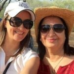 Preeti Jhangiani mother and sister