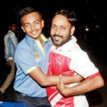 Prithvi Shaw with his father Pankaj Shaw