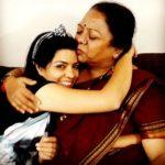 Rajshri Deshpande with her mother