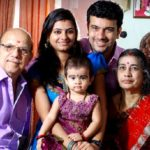 Ramesh Pisharody with his parents, wife, and daughter