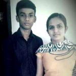 Riya Alokh with her brother