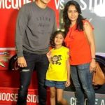 Romit Raj with his wife Tina Kakkar and daughter Reha Raj Prasher