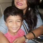 Rupanjana Mitra with son