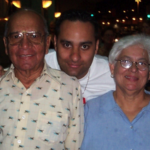 Russell Peters with his parents