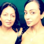 Sabrina Bajwa with her mother