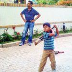 Samit Dravid with his father Rahul Dravid
