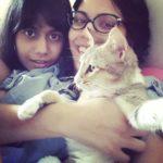 Sanya Sagar, a cat lover