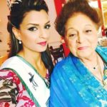 Sarish Khan with her grandmother