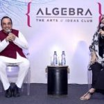 Shoma Chaudhury With Subramanian Swamy At Algebra Shoot