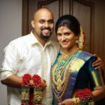 Amritha Nair with her husband Sibi Lal