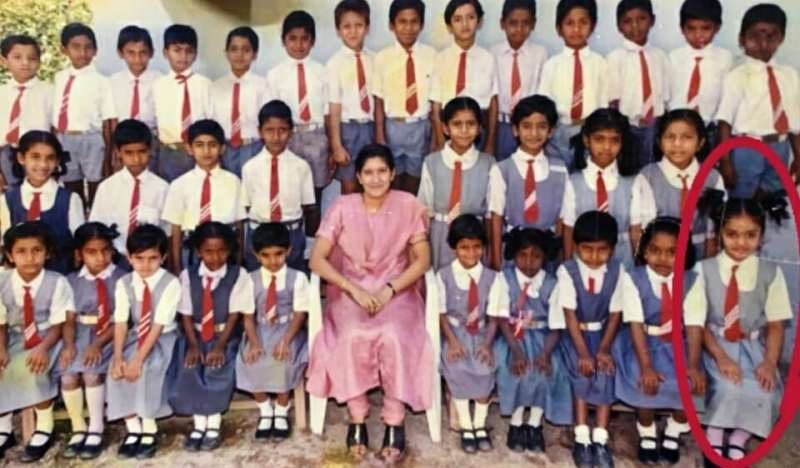 Sreemukhi's School Days Photo