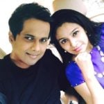 Sriram Iyer with his wife Uthara Iyer