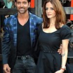 Suzanne Khan with her husband Hrithik Roshan