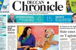 M J Akbar was editor-in-chief of The Deccan Chronicle Newspaper